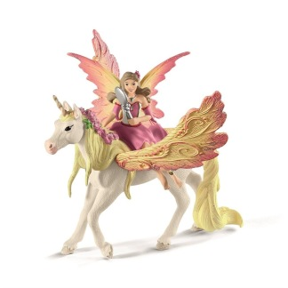 Fairy Feya with Pegasus unicorn -