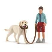 Promenad med Labrador Retriever, Schleich
