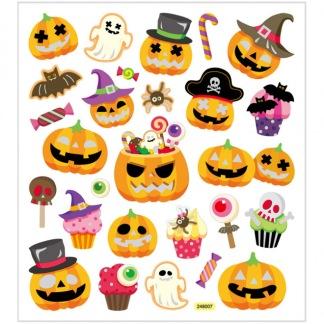 Klistermärken Halloweenpumpor -