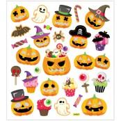 Klistermärken Halloweenpumpor