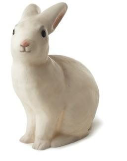 Klassisk kaninlampa - vit -