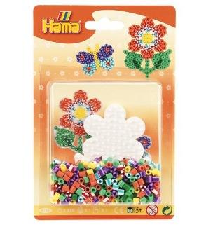 Hama Midi Pärlset - Liten Blomma - Flerfärgad -
