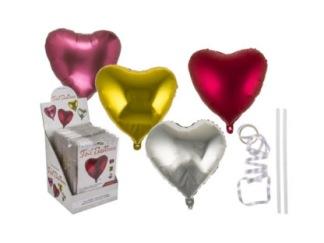 Ballonger Foliehjärtan - guld