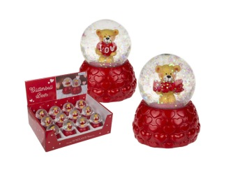 Glasglob Glitter Teddy Love -