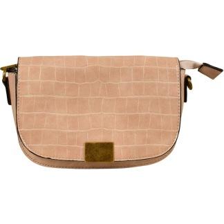 Handbag with crocodile leather, 2-in-1 bag -