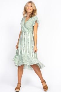 Irma dress jade green - S