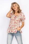 Clara blouse peach coral/creme