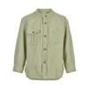 Bomullsskjorta l/s, grön - 122