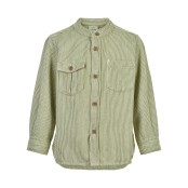 Bomullsskjorta l/s, grön