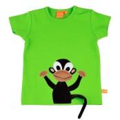 Äppelgrön t-shirt med apan Doris