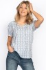 Lily Blouse Reef blue - XXL