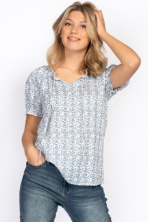 Lily Blouse Reef blue - S