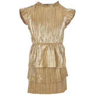 Klänning, guld - 80