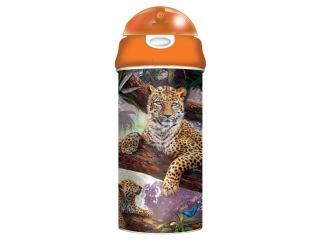 Flaska 3D Leoparder -