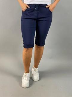 Josefin capribyxa med stretch, marinblå - one size