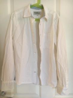 Bomullsskjorta, vit, stl 152 - 152