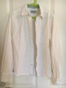 Bomullsskjorta, vit, stl 152