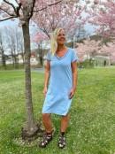 NANNA T-shirtklänning i specialtvätt, blå