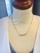 Halsband, kort, Hjärtslag, rosé