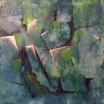 Stenbrott - akryl, 20x20 cm, djup 3,5 cm, SEK 900