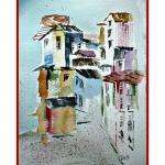 By vid Medelhavet, vit-röd passepartout, 30x40 cm, SEK  1800