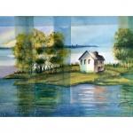 Huset på ön, 50x70 cm, SEK 3,000