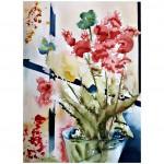 En blomma, 40x50 cm, SEK 1,500