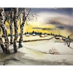 Vinterlandskap, 40x50 cm, SEK 800