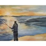 Fiske, 30x40 cm, SEK 1200