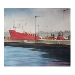 En del av Edinburghs hamn, 40x40 cm, SEK 1800