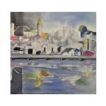 Staden vid vattnet. 30x30 cm, SEK 1500