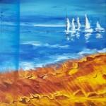 Hemåt, akryl, 30x30 cm, SEK 1800