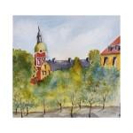 Vid Kungsträdgården, 40x40 cm, SEK 1800