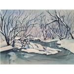 Snörik vinter, 40x50 cm, SEK 1800