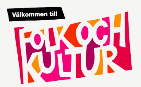 Syntolkning: Folk och Kulturs logga.