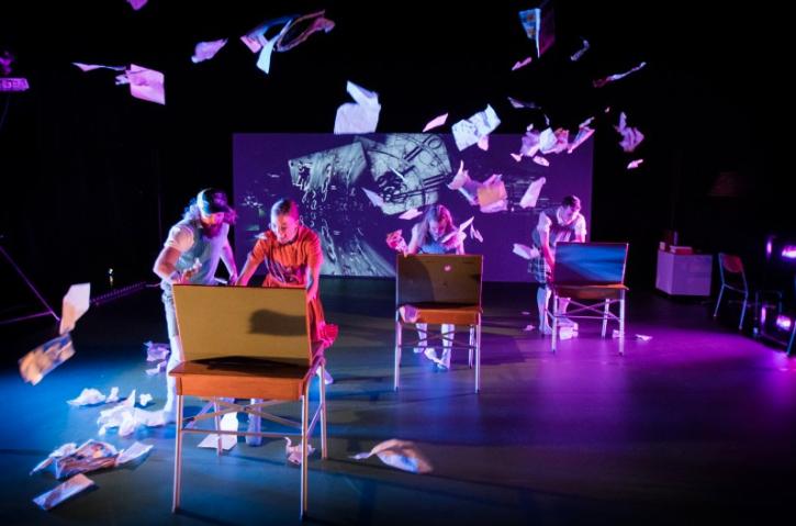 Bild från föreställningen Justine, Regionteater Väst. Fotograf: Håkan Larsson.