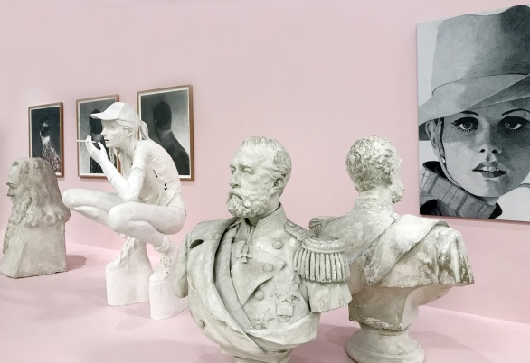 Foto; Eskilstuna konstmuseum. Konstverk av Cajsa von Zeipel, Carl Hammoud, Alice Nordun