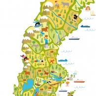 Natur & Kultur Kompass Sverigekarta