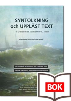 Syntolkning och uppläst text - tryckt bok -