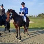 Illugi på hästen Efridis från Stall VitaVillan, vist i T1 med 7,17