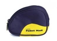 Pocketmask O² i blå mjukväska ventil/ /filter svensk bruksanv
