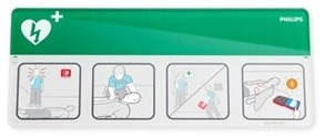 AED Awareness Placard Green - AED Awareness Placard Green