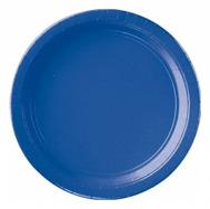 Blå engångstallrik