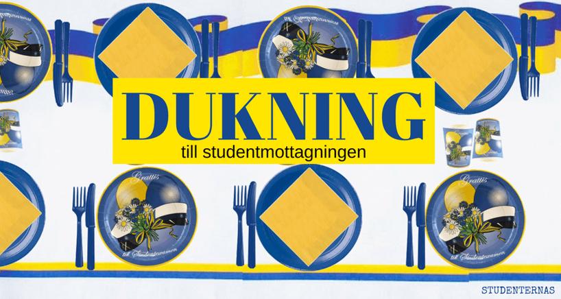 Dukning till Studentmottagning