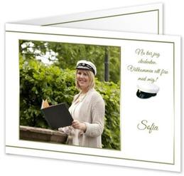 Inbjudningskort till studentmottagning från Smartphoto