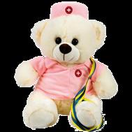Student sjuksköterska som är en nalle