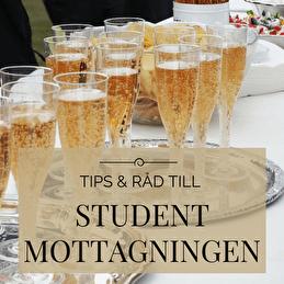 Studentmottagning med champagne