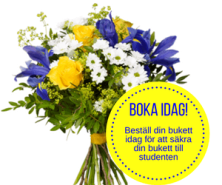 Blombukett Interflora till studenten