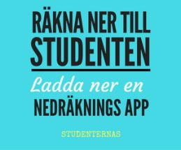 Nedräknings app till studenten