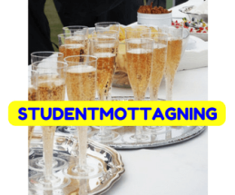 Champagne hälls upp i glas på en Studentmottagning